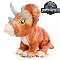 Peluche Jurassic World dinosaurio Triceratops