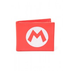 Cartera Billetero Super Mario logo M Bordado Nintendo
