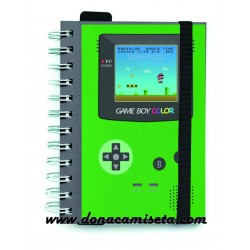 Agenda 2018-2019 Nintendo Game Boy Retro A6 verde