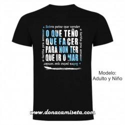 Camiseta O que teño que facer para non ir o mar