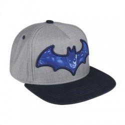 Gorra Batman logo 3D gris visera plana premium