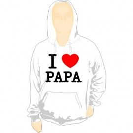 Sudadera Capucha I Love Papa