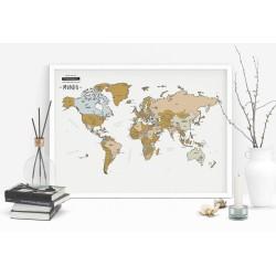 Mapa Rascable del Mundo en Español