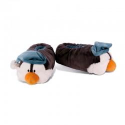 Zapatilla Peluche Pingüino con gorro NICI 34/37
