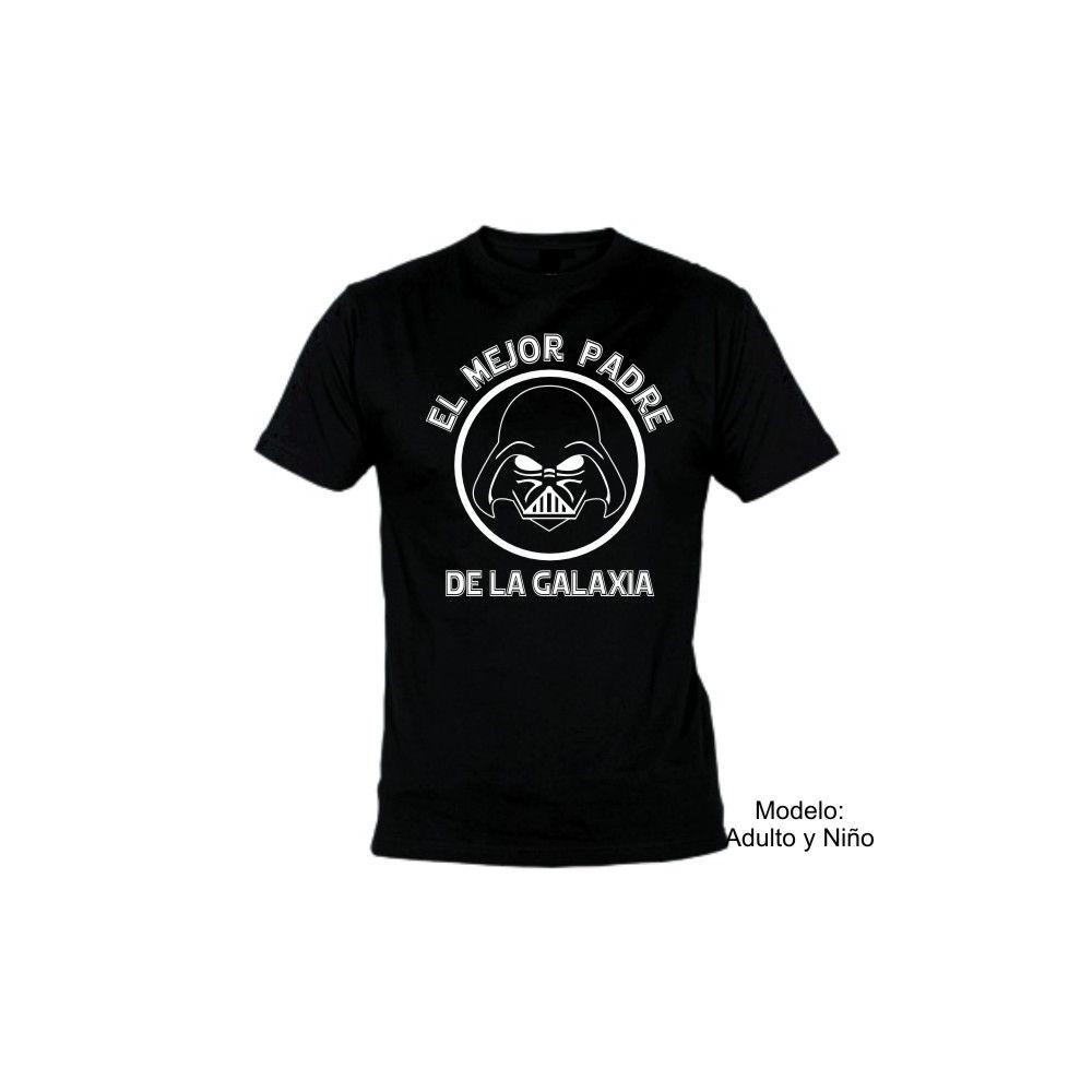 Camiseta MC Darth Vader Mejor padre Galaxia