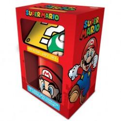 Pack Super Mario Taza + llavero + posavaso