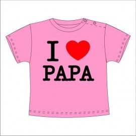 Camiseta MC Bebé I Love Papa