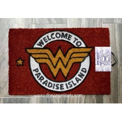 Felpudo Welcome to Paradise Island (Wonder Woman)