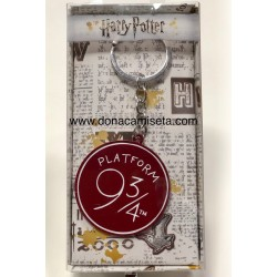 LLavero Harry Potter Plataforma 9 3/4 en metal