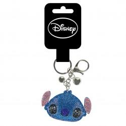 Llavero Stitch cara en 3d con pedrería Disney
