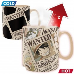 Taza Mágica One Piece Wanted