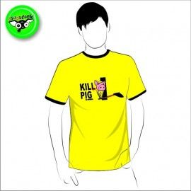 Camiseta MC Unisex Kill Pig (parodia Kill Bill)