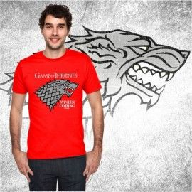 Camiseta MC Unisex Stark Gris ( Juego de Tronos)