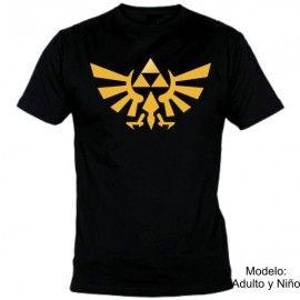 Camiseta MC Zelda Logo Oro