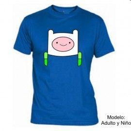 Camiseta MC Finn cara Hora de Aventuras