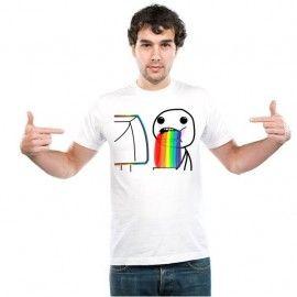 Camiseta MC Unisex Memes Arcoiris