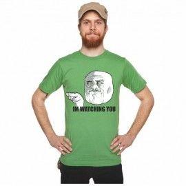 Camiseta MC Unisex Memes Watching You