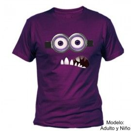 Camiseta MC Minion Púrpura (Despicable Me)