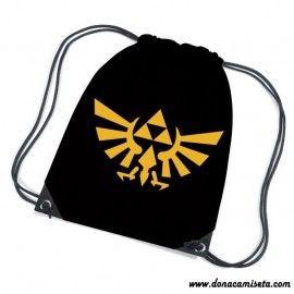 Mochila Cordón Zelda Logo Oro