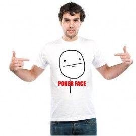 Camiseta MC Unisex Memes Poker Face