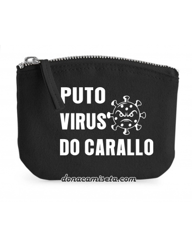 Porta mascarillas Puto Virus Algodón...