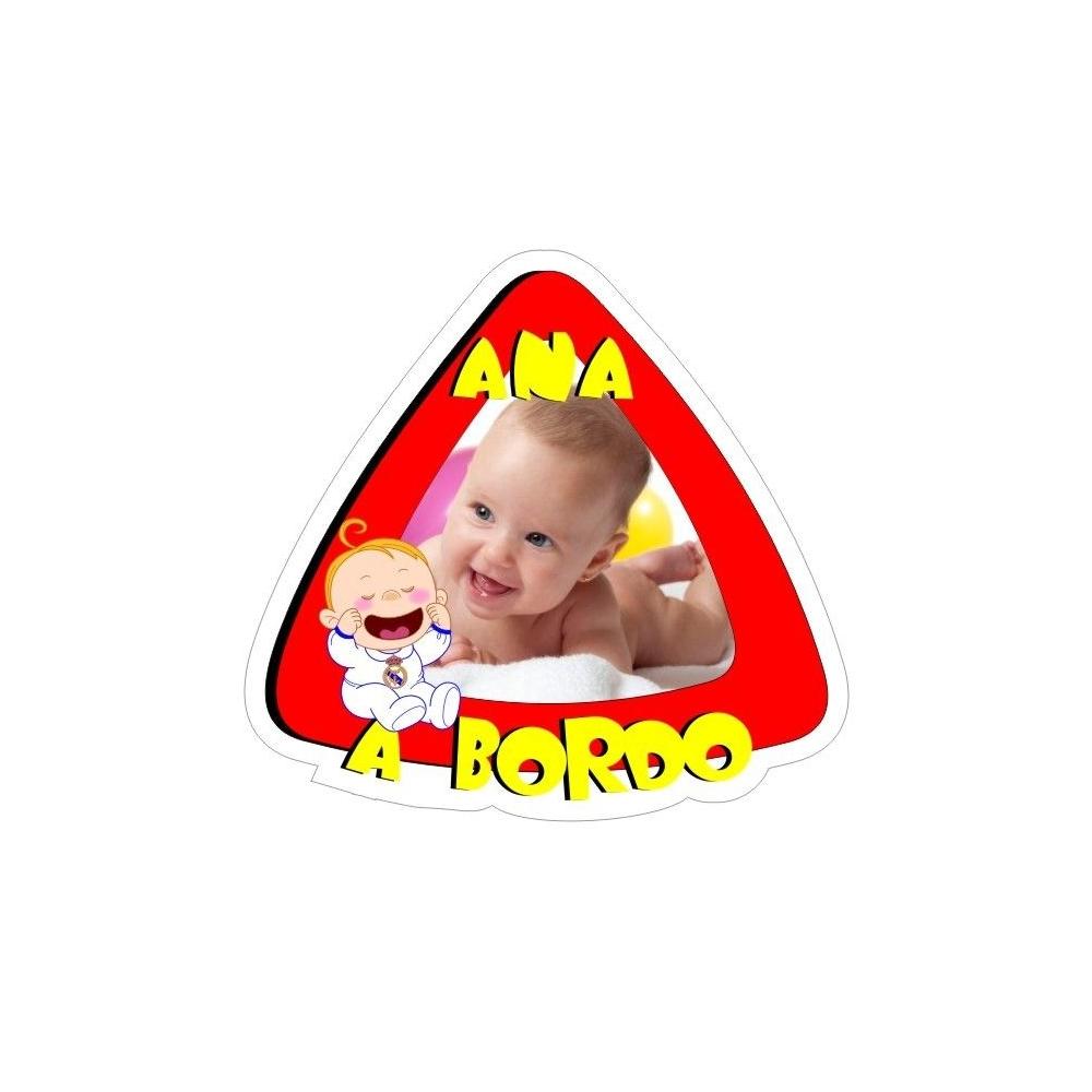 Pegatina Bebé a bordo Personalizada