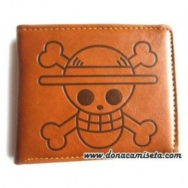 Cartera calavera Luffy Marrón (One Piece)