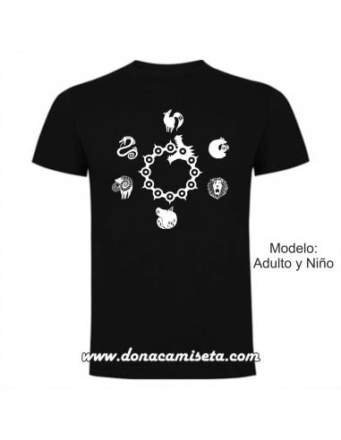 Camiseta 7 Pecados capitales logos
