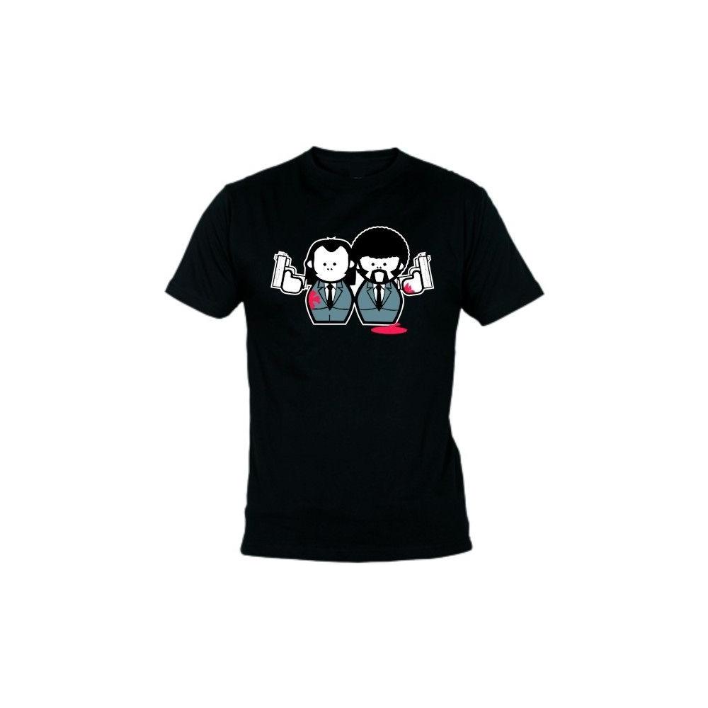 Camiseta MC Unisex Pulp Fiction Muñecos