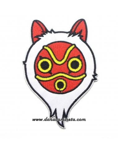 Parche Bordado Princesa Mononoke Máscara