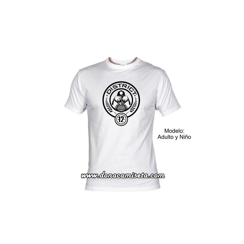 Camiseta MC District 12 ( Los Juegos del Hambre)