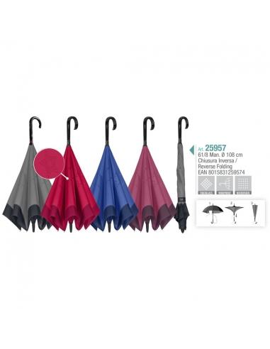 Paraguas Reversible manual Perletti...