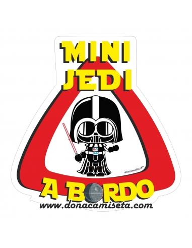 Pegatina Bebé a bordo Mini Jedi a bordo