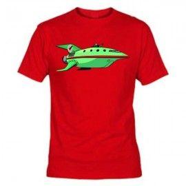 Camiseta MC Unisex Futurama Nave