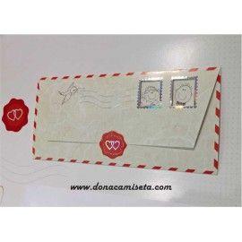Invitacion Boda Carta correo aéreo