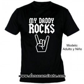 Camiseta MC My Daddy Rocks