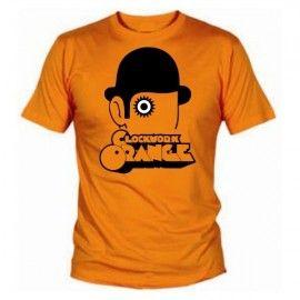 Camiseta MC Unisex Naranja Mecanica Ojo