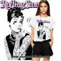 Camiseta Audrey Rolling Stone