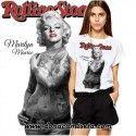 Camiseta Marilyn Rolling Stone