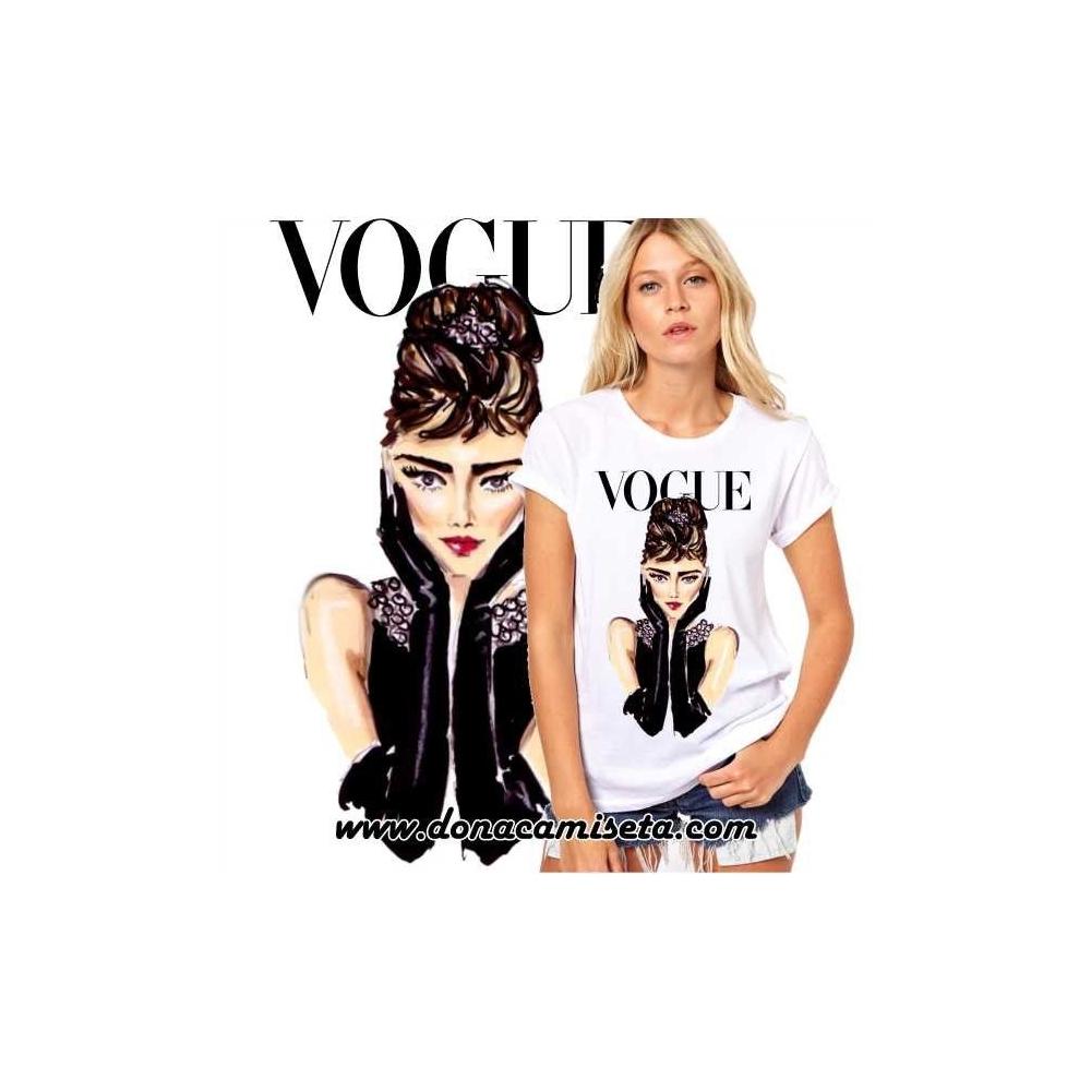 Camiseta Audrey cara Vogue