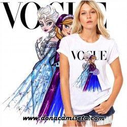 Camiseta Frozen Vogue