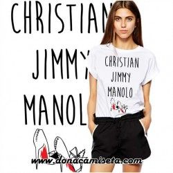 Camiseta Zapatos Christian Jimmy Manolo