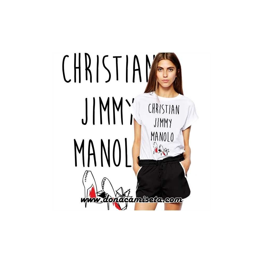 Camiseta Zapatos Christian Jimmy Manolo