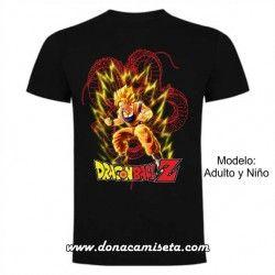 Camiseta Dragon Ball Saiyan líneas