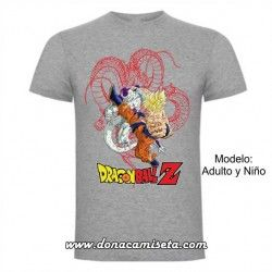 Camiseta Dragon Ball Goku Freezer lineas