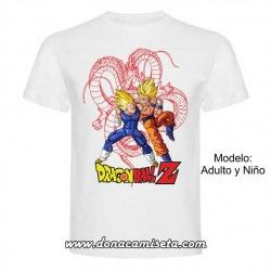 Camiseta Dragon Ball Goku Vegeta lineas