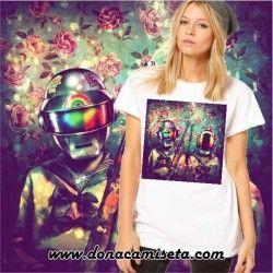 Camiseta Duft Punk colores