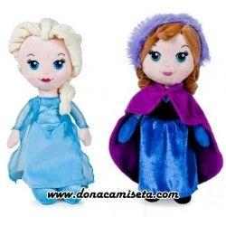 Peluche Elsa y Anna Frozen 25cm