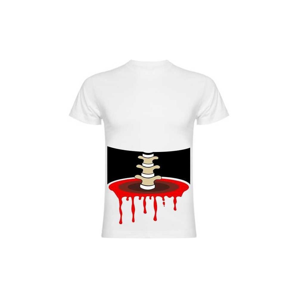 Camiseta Esqueleto 3D corte cintura