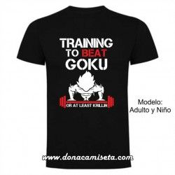 Camiseta Training to Beat Goku